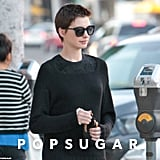 Anne Hathaway was spotted in LA with fiancé Adam Shulman.
