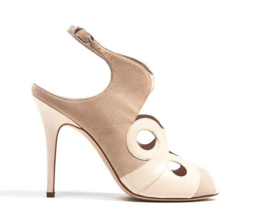 Monique Lhuillier Nude Kid/Piper Combo Sandal ($890)