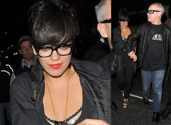 Photos Of Lily Allen and Damien Hirst At The Groucho Club In London