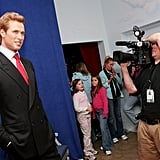 Even wax figure Will is a draw for the press.