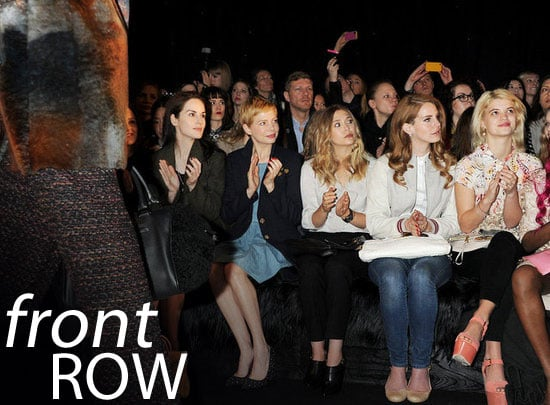 See Celebrities Front Row at London Fashion Week Autumn Winter 2012 Shows! Alexa Chung, Poppy Delevingne and more