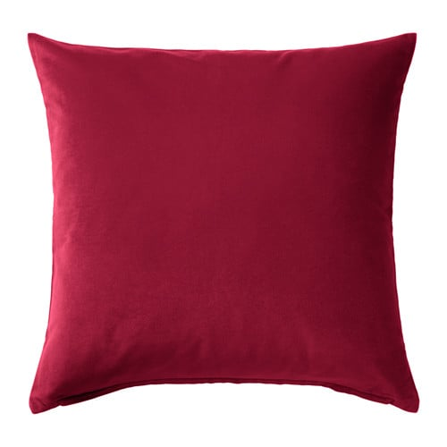 Sanela Cushion Cover in Dark Pink ($8)