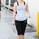 Jennifer Lawrence left her gym in LA.