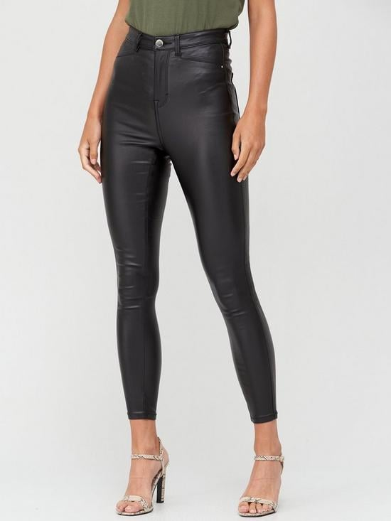 V by Very Addison Super High Waisted Coated Super Skinny Jean