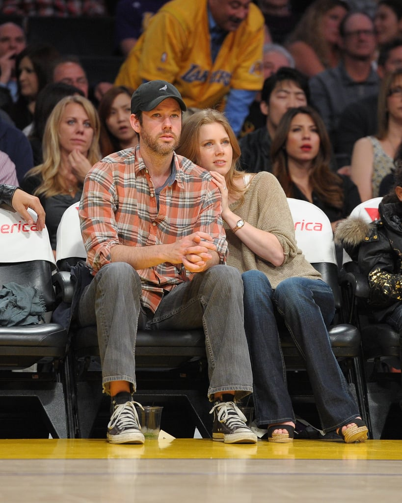 Pictures of David Beckham, Amy Adams and Darren Le Gallo at LA Lakers vs. Utah Jazz Game