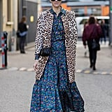 Style Your Leopard-Print Coat With: A Printed Dress and Leopard-Print Heels