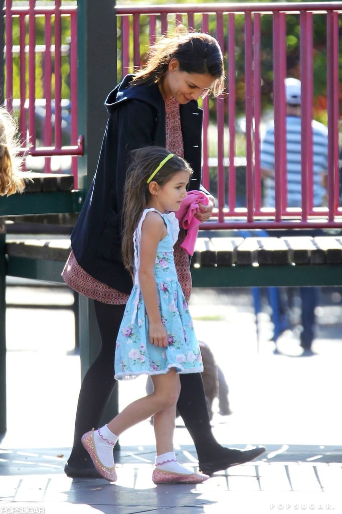 "Katie Holmes and Suri Cruise traveled beyond their new Manhattan zip code and visited a Brooklyn park yesterday. Suri quickly made friends and checked out the playground while Katie watched from close by. Katie has been busy with multiple projects since splitting from Tom Cruise in June, and she's also reconnecting with old friends. Katie called former costar Joshua Jackson recently, and according to him, it was ""nice"" to catch up. There's been rumors of a possible Dawson's Creek reunion for years, and fans of the show can look forward to seeing at least two of the show's stars reunite on the small screen this Fall.  Busy Philipps will make a cameo on Don't Trust the B---- in Apartment 23, starring James Van Der Beek, and according to Busy, she plays a ""very heightened version"" of herself."