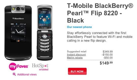 Daily Tech: The BlackBerry Pearl Flip 8220 Comes to T-Mobile