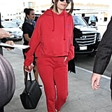 A Red Sweatsuit