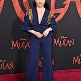 لانا كوندور في العرض العالمي الأول لفيلم مولان في لوس أنجلوس