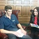Catt Sadler chatted with Michael Phelps.  Source: Twitter user IAmCattSadler