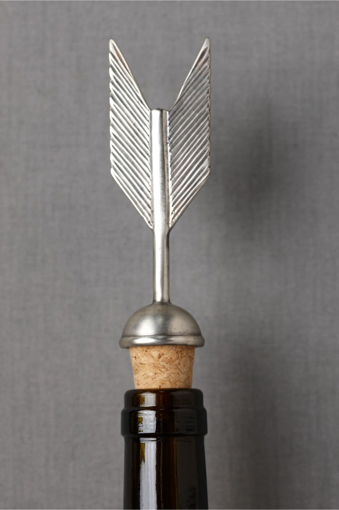 Wine lovers (or fans of The Hunger Games) will go gaga for BHLDN's Fletching Bottle Stopper ($12).