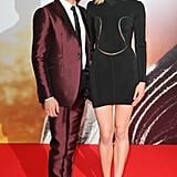 Zac Efron posed with his onscreen love interest Taylor Schilling at the Berlin premiere of The Lucky One.