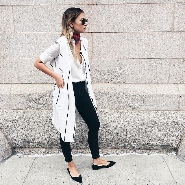 86508b3636 Jeans, a Button-Down, and a Duster Vest   43 Outfits Everyone Loves ...