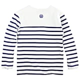Junior Gaultier White and Navy Blue Striped Top ($73)