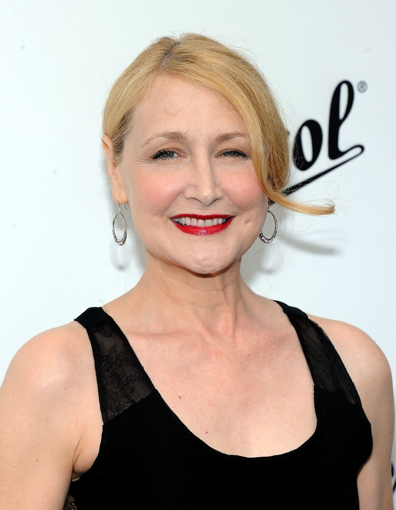 Patricia Clarkson wore bright red lips to the Persol Magnificent Obsessions event in NYC.