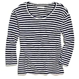For the off-duty denim outfit, this Madewell pencil-stripe pullover ($40, originally $58) hits all the right prepster notes. It's clean, striped, and an easy layering tool.