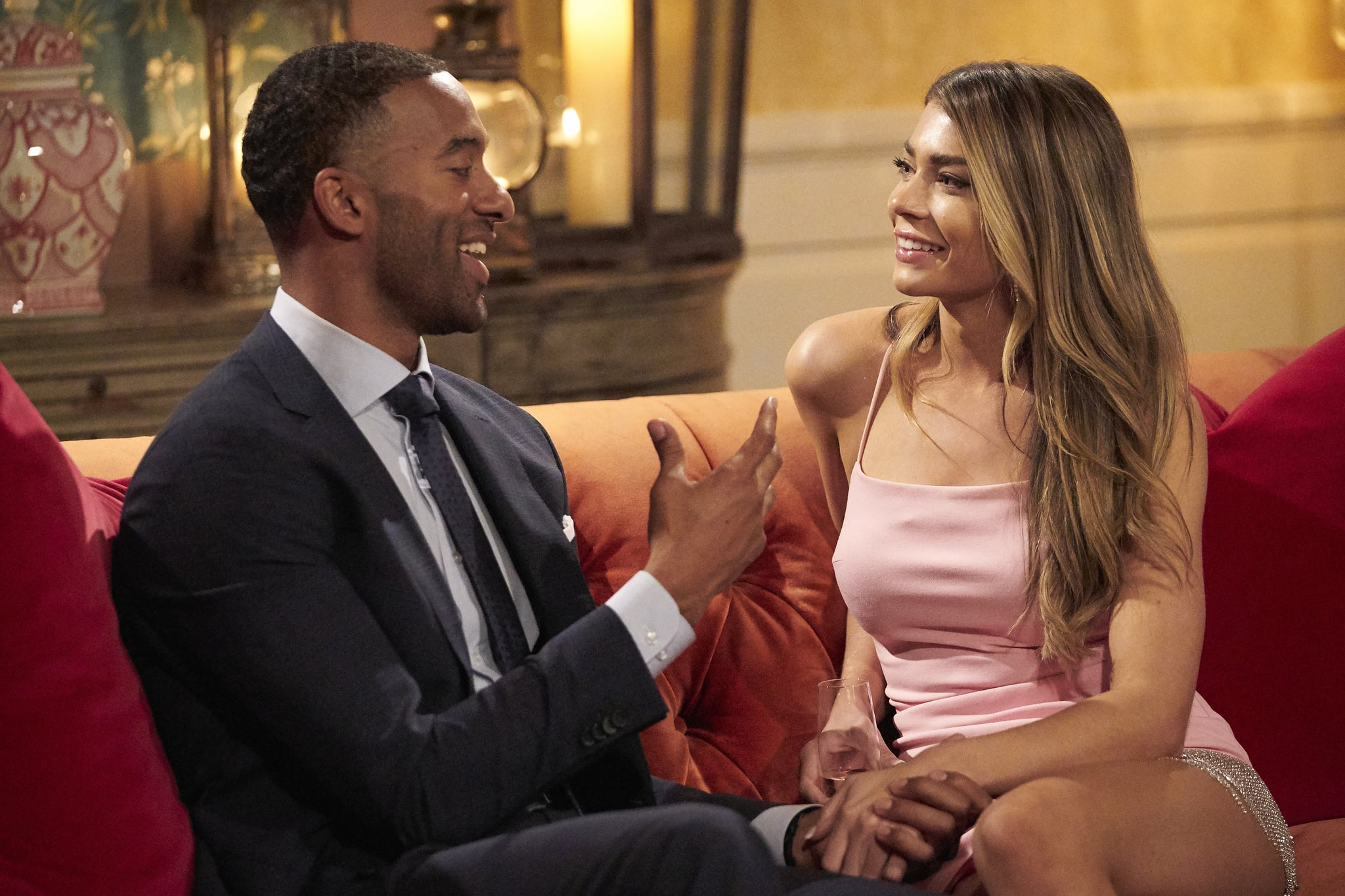 THE BACHELOR - 2502  The 24 women who survived the rose ceremony on arrival night discover that dating Matt is intoxicating although the atmosphere among the women is plain toxic. Matts adventurous first date with Bri triggers an emotional bombshell between the other jealous women, including Victoria. The largest group date in Bachelor history has 18 women dress up for a wedding photo shoot, with Matt as the groom kissing his brides. Sarah is thrilled to join Matt on a romantic ride aboard a 1930s biplane, but the love-struck bachelorette is having a difficult time seeing him with other ladies, leading to multiple women spiraling out of control on The Bachelor, airing MONDAY, JAN. 11 (8:00-10:00 p.m. EST), on ABC. (ABC/Craig Sjodin)MATT JAMES, SARAH