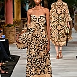 A Woven Gown and Bag From the Oscar de la Renta Runway at New York Fashion Week