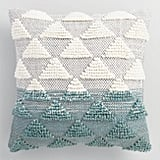 Jade Woven Triangle Indoor Outdoor Throw Pillow