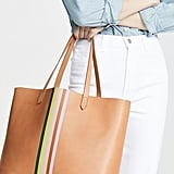 Madewell Classic Transport Tote With Rainbow Stripe
