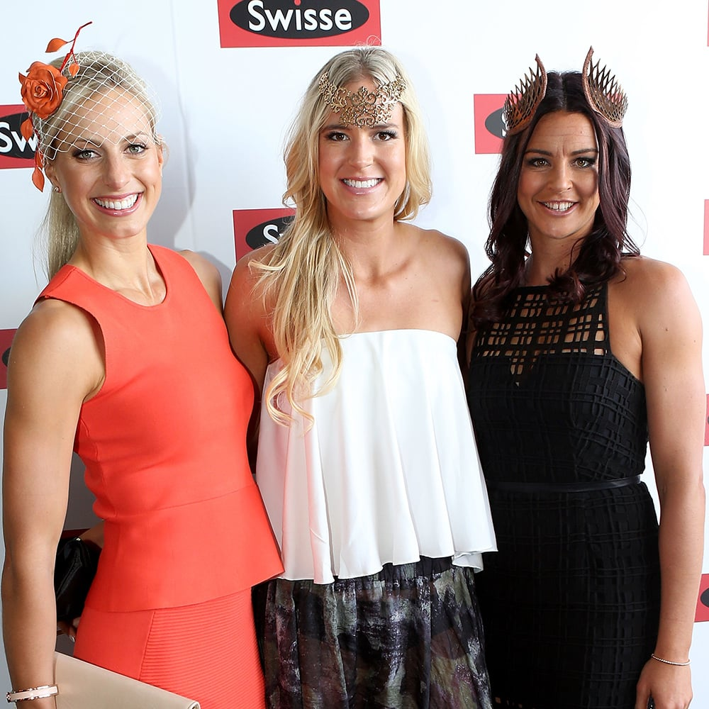 Laura Geitz Caitlin Bassett And Sharni Layton Melbourne Cup 2015 Celebrity Hair And Makeup Popsugar Beauty Australia Photo 13