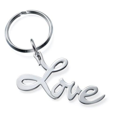 "Sterling Silver ""Love"" Keychain ($35)"
