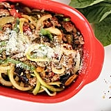 Spicy Eggplant and Courgette Spaghetti