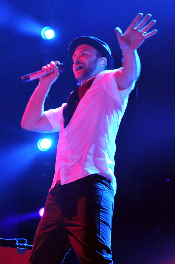 Justin Timberlake performed at the Rose Bowl with Jay Z.