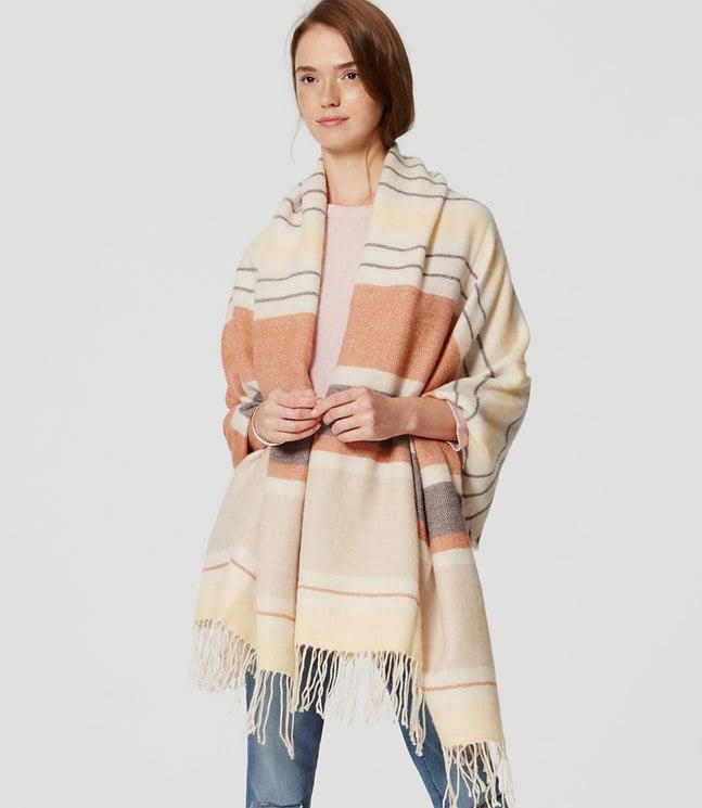 LOFT Striped Blanket Scarf ($45)