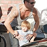 Colin Farrell picked up his son, Henry Farrell.