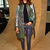 A metallic coat glammed up the Marc by Marc Jacobs Autumn 2014 front row during New York Fashion Week in February 2014.