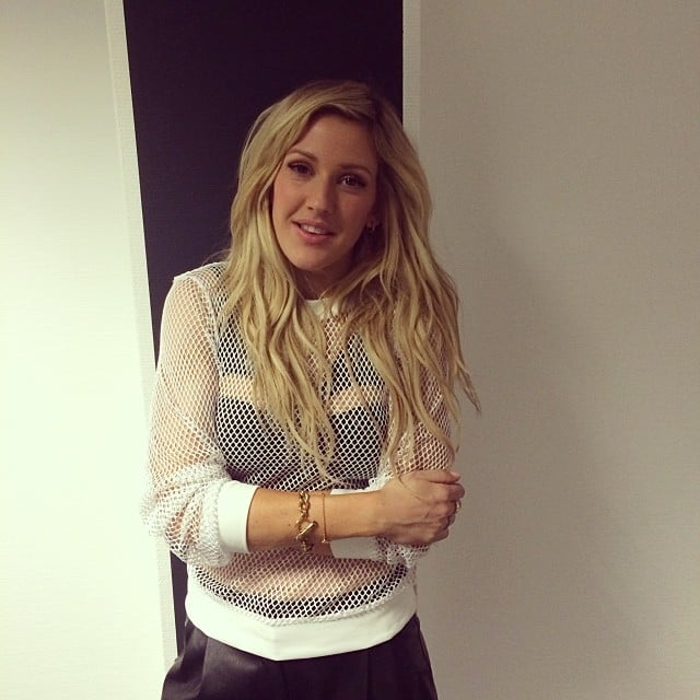 Ellie Goulding posed backstage after a performance. Source: Instagram user elliegoulding