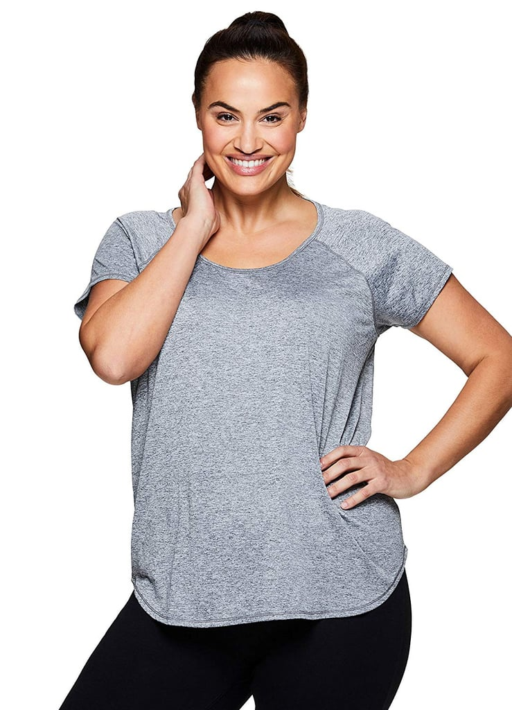 649661ed0 RBX Active Space Dye Short Sleeve V-Neck | Best Plus-Size Workout ...