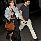 Keira Knightley and new fiancé, James Righton, went out to dinner to celebrate their engagement in London.
