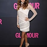 At Glamour's 15th anniversary party, Eva showed off her stems in a sheer white Emilio Pucci mini.