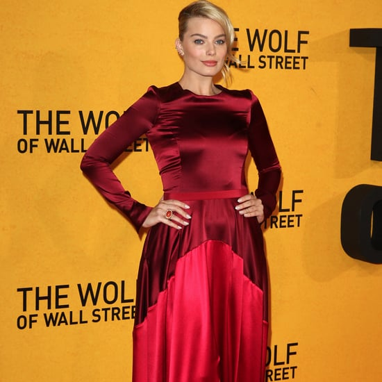 Margot Robbie in Oscar de la Renta Red Dress