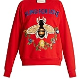Gucci Bee and Floral Appliqué Sweatshirt