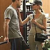 Diane Kruger and Joshua Jackson show love.