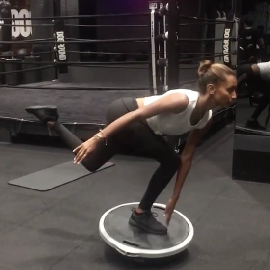 Jasmine Tookes BOSU Ball Exercise