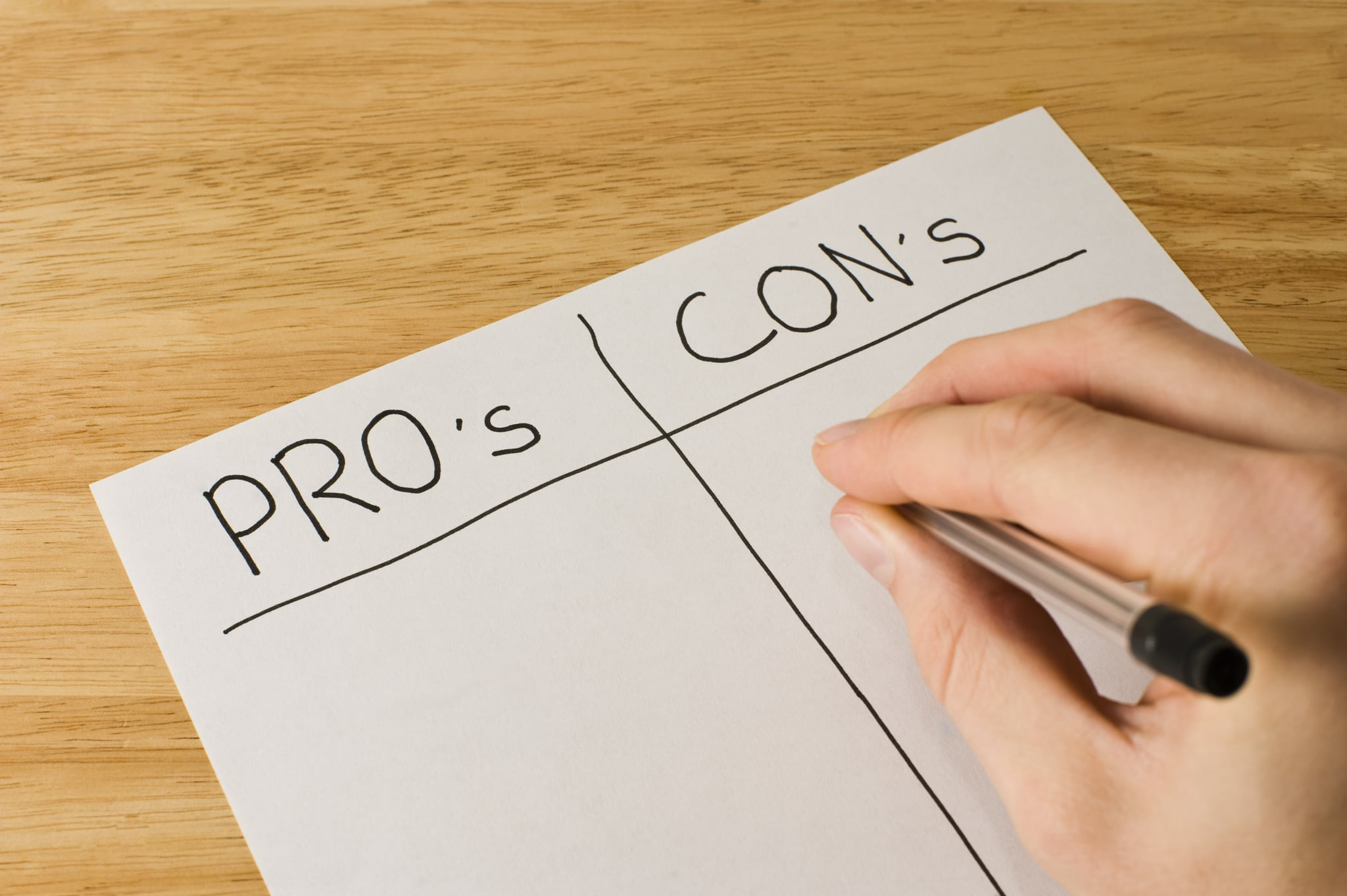 Make a Pros and Cons List   Healthspectra