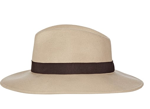 We wanted to find a hat that met two basic requirements — a fedora feel with a more wide-brimmed silhouette. We found it! Reiss Ava Wide Brim Hat ($105)