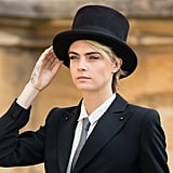 Cara Delevingne's Wedding Top Hat, 2018
