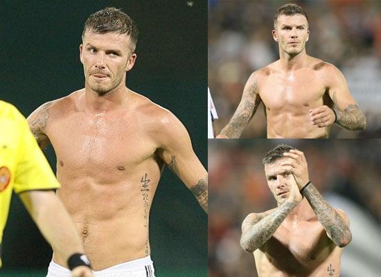 Photos of David Beckham Shirtless