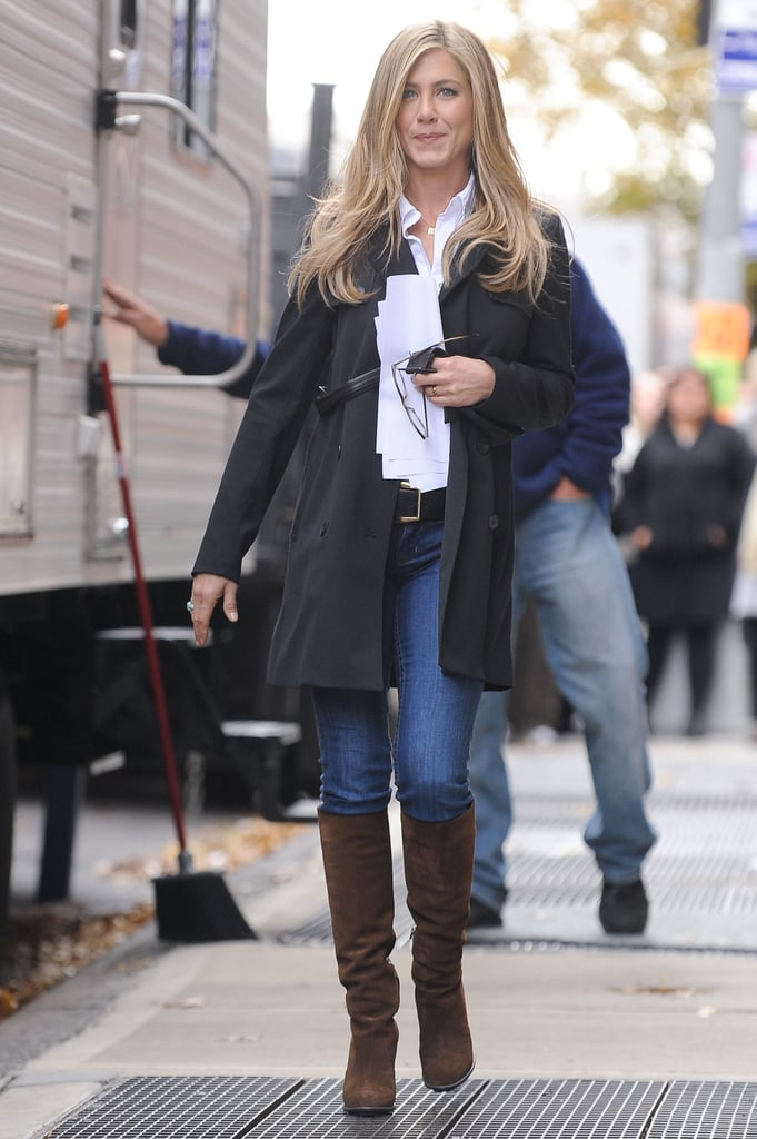 Jennifer Aniston In Skinny Jeans Popsugar Fashion
