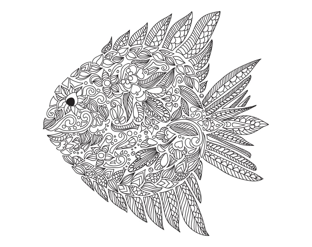 Get the coloring page: Fish | Free Colouring Pages For Adults ...