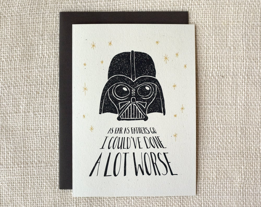 Star Wars Cards For Dad, Even If He's on the Dark Side