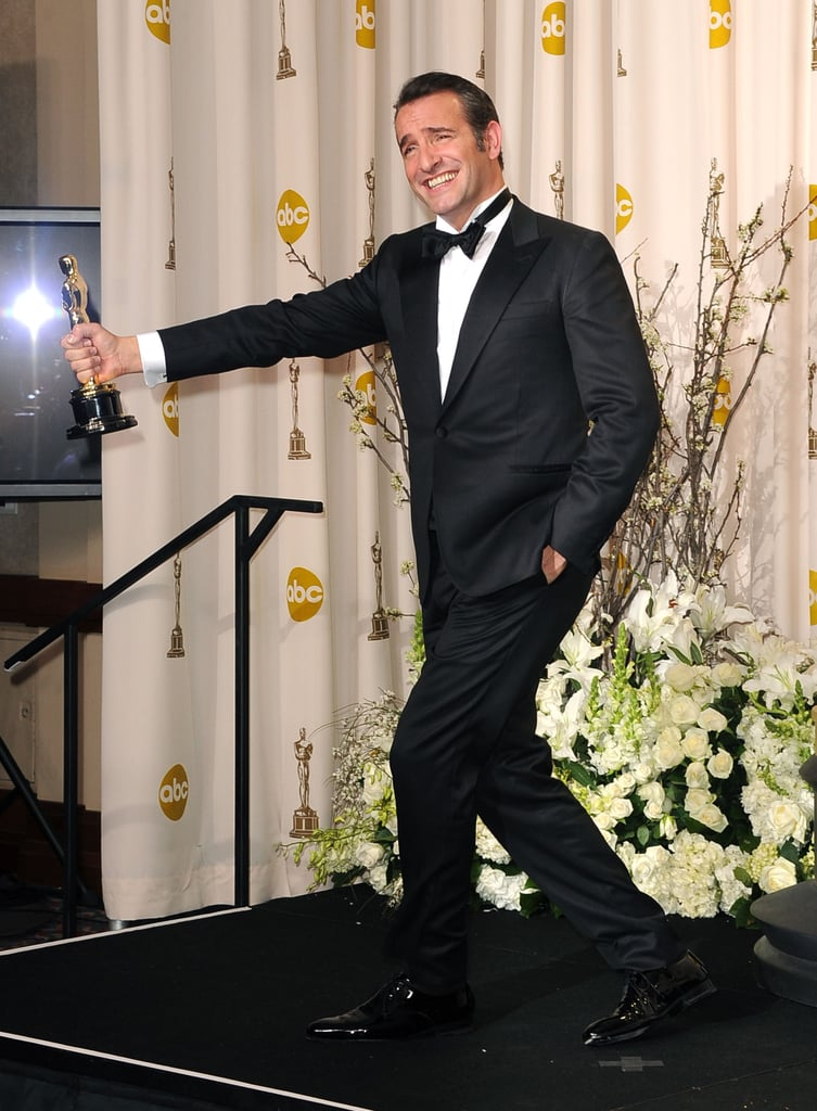 2012 oscars press room and winners pictures popsugar for 99 f dujardin