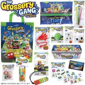The Grossery Gang Showbag ($26) Includes:  Temporary tattoos  Boogers  Flies