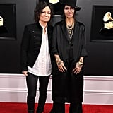 Pictured: Sara Gilbert and Linda Perry